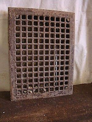Vintage 1920S Iron Heating Grate Square Design 16 X 12 Erg