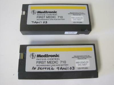 Lot Of 2 Physio Control Battery 685-0043-00 D/c 0207 12V From A First Medic 710
