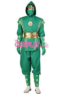 Mighty Morphin Power Rangers: The Movie -- Green Ninjetti Ranger Cosplay Costume