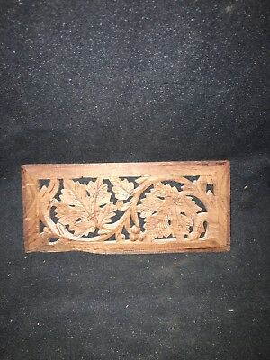 "1930's 8 1/2"" Carved Wood Pediment"