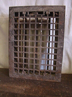 Vintage 1920S Cast Iron Heating Grate Square Design 16 X 12