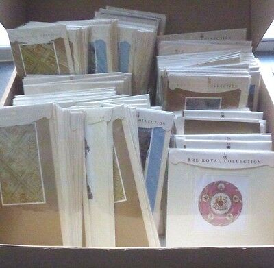 500 X Royal Collection Greeting Cards Blank Plain Luxury Job Lot Car Boot Resale