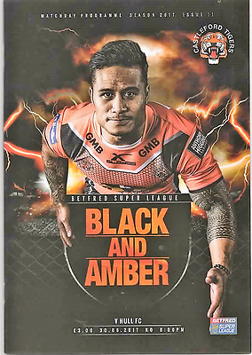 2017-Castleford Tigers V  Hull Fc-30/6/17-Rugby Super League Programme
