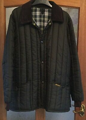 BARBOUR GREEN quilted jacket coat SIZE M