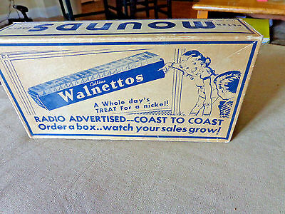 Vtg Peter Paul's Mounds Walnettos Store Box Display, Candy Bar