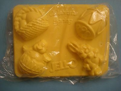 2 Spring Celebration Jello Jiggler Mold Bunny Chick in Egg Basket Easter Egg