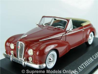 Hotchkiss Antheor Cabriolet 1953 Car Model 1/43 Maroon Colour Example T3412Z(=)