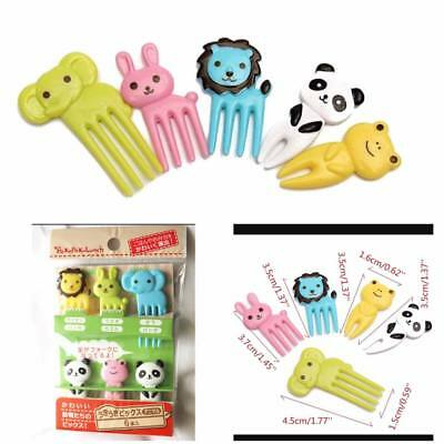 FOOD PICKS Elephant and Friends Bento Forks Accessories/6pcs