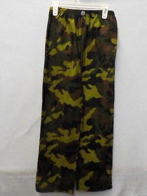 Boys Small 6/7 Climatesmart Green Brown Camo Flannel Pajama Pants New  #3835