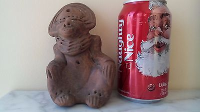 Antique Pre Columbian Mayan Pottery Statue Figurine Man