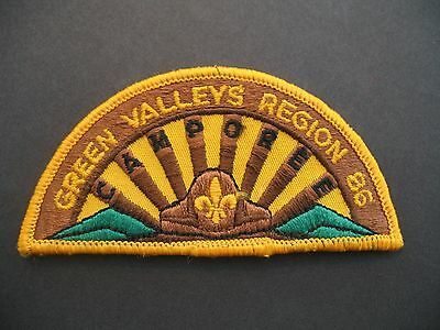 Boy Scouts Canada Green Valleys Region Camporee 1986 Embroidered Patch