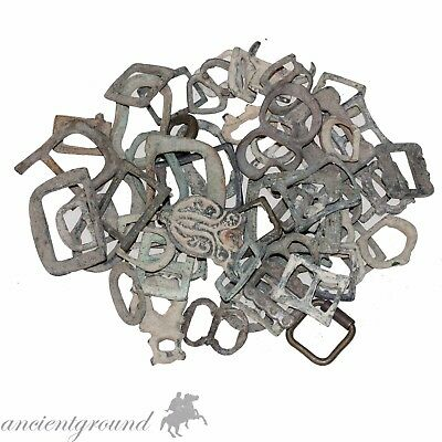 Top Lot Of 58 Unclean Ancient To Late Medieval Bronze Buckles