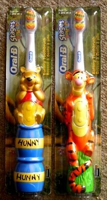 Oral B Stages Power Battery Toothbrush SOFT Disney TIGGER WINNIE THE POOH 3+