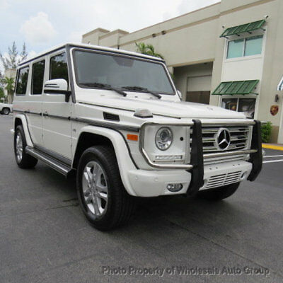 2015 Mercedes-Benz G-Class 4MATIC 4dr G 550 ONE OWNER CARFAX CERTIFIED. BEST COLOR . WHITE ON WHITE . CALL 954-744-1177