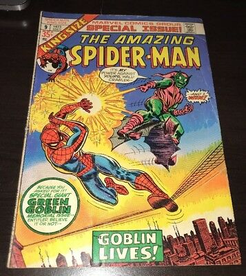 Amazing Spider-Man King Size #9 VG/FN Green Goblin Marvel Bronze Age Comic