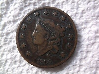 1830    N 1    Coronet Head Large Cent