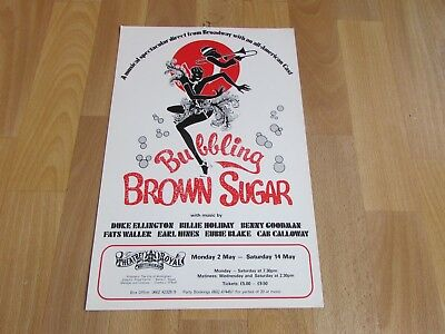 BUBBLING Brown Sugar Broadway Musical Cast Theatre Royal NOTTINGHAM Poster