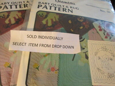 Patterns By Jeaneau-Baby Quilt & Rug Pattern Your Choice-Sealed