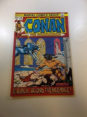 Conan The Barbarian #20 signed by Roy Thomas VF condition