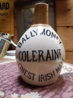 "Rare ""BALLYMONEY"" COLERAINE FINEST IRISH MALT 6 3/4"" Tall Jug-Northern Ireland"