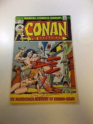 Conan The Barbarian #25 signed by Roy Thomas FN condition