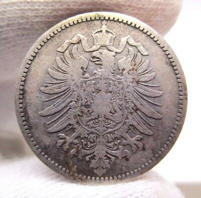 1875 A Germany One 1 Mark Silver Coin GERMAN COIN FOREIGN