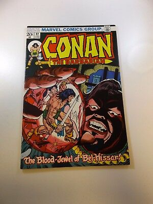 Conan The Barbarian #27 signed by Roy Thomas FN/VF condition