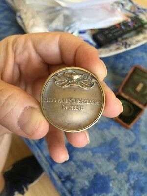 Rare Old Bronze Medal By Tiffany For Violin Class Performance NYC ?