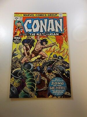 Conan The Barbarian #59 signed by Roy Thomas FN- condition MVS intact