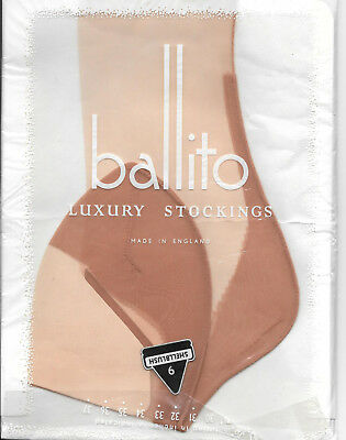Vintage Ballito High Jinx seamed and fully fashioned nylons stockings size 9.