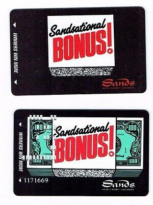 SANDS Las Vegas SLOT CARD / Players Club SANDSATIONAL- LOT of 2 ~ FREE SHIPPING~
