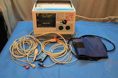 ZOLL M Series ecg aed pacing analyze w/cables/battery
