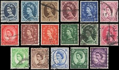 Great Britain #317-333 set Used