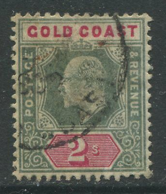Gold Coast KEVII 1902 2/ green & carmine rose CDS used
