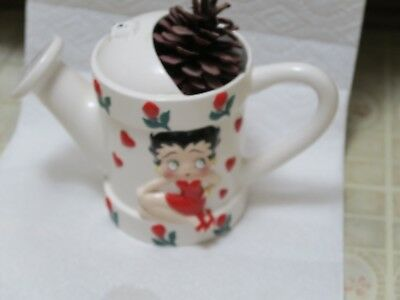 Betty Boop Porcelain Vintage Watering Can Pitcher 2002 Kings Feature Cartoon
