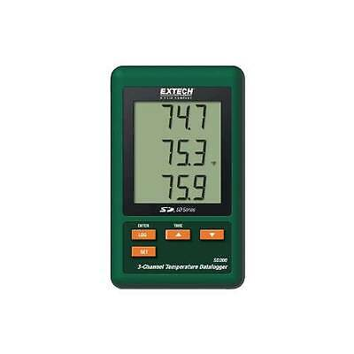 Extech SD200 3-Channel Temperature Datalogger with SD Card