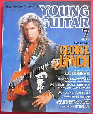 YOUNG GUITAR 1992 JUL JAPAN MAGAZINE George Lynch RICK NIELSEN