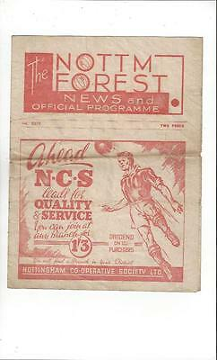 Nottingham Forest v Barnsley 1946/47 Football Programme