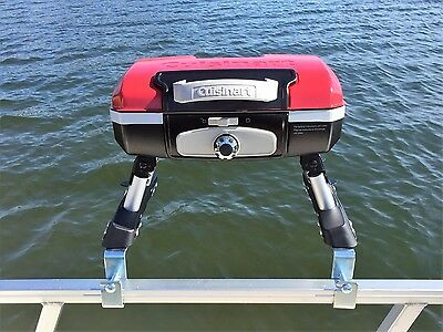 Cuisinart Grill Modified for a Pontoon Boat with Arnall's Grill Bracket Set