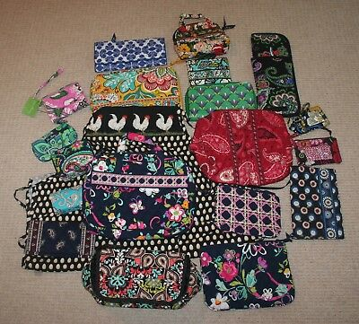 Lot of 20 Vera Bradley Accessories: Wallets, Pouches, Apron
