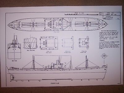 LIBERTY SHIP ship plans - $17.76 | PicClick