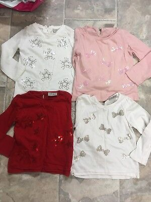 Baby Girls Next Christmas Sequin Long Sleeve Tops 1.5-2years