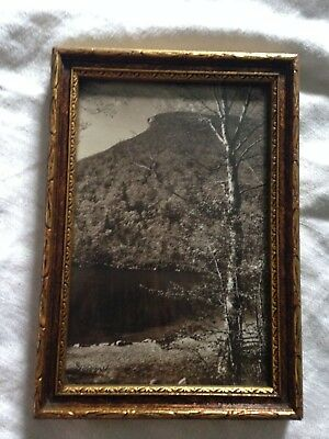 "Vintage SAWYER Photograph ""The Old Man of the Mountain""~Framed~Signed"