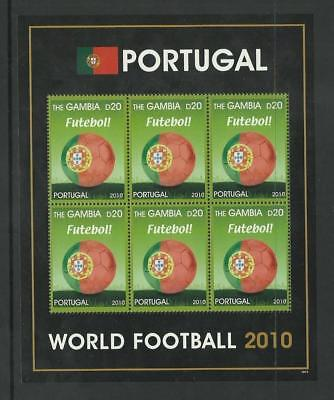 Gambia MNH 2010 Football World Cup Portugal M/S