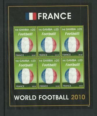 Gambia MNH 2010 Football World Cup France M/S