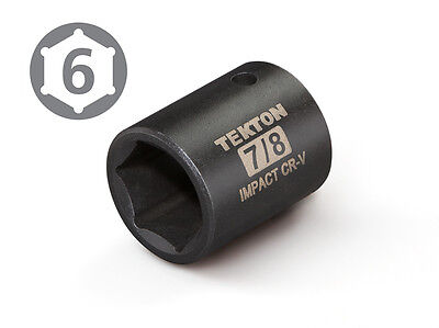 TEKTON 47757 1/2-Inch Drive by 7/8-Inch Shallow Impact Socket, Cr-V, 6-Point