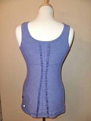 Lululemon Athletica Run Free Tank Top Heathered Persian Purple Size 6 Eeuc Rare