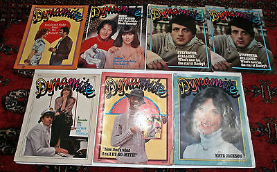7 Vintage Dynamite Magazines: Mork&mindy,fonzie&pinky,stallone,captain&tennille