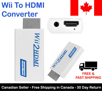 Wii To HDMI Adapter Converter Upscale 720p 1080p HD with 3.5mm Audio Output