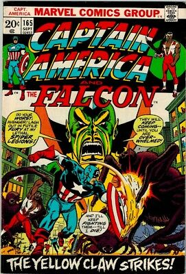 Captain America and Falcon  #165 (Sep 1973, Marvel) Vol.1 VF HG Yellow Claw
